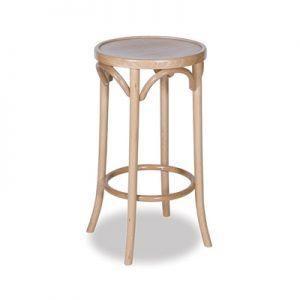 68cm Bentwood Stool without back - Natural